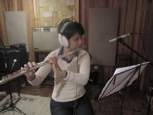 Cris na flauta perto
